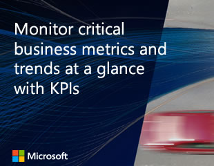Thumbnail image of Monitor critical business metrics and trends at a glance with KPIs video