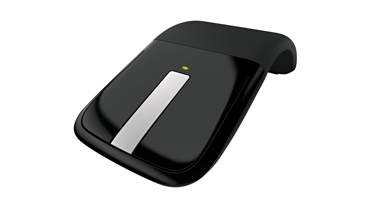 Arc Touch Mouse (Black) - Angles front fiew