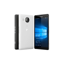 Microsoft Lumia 950 XL - White- Front and back view