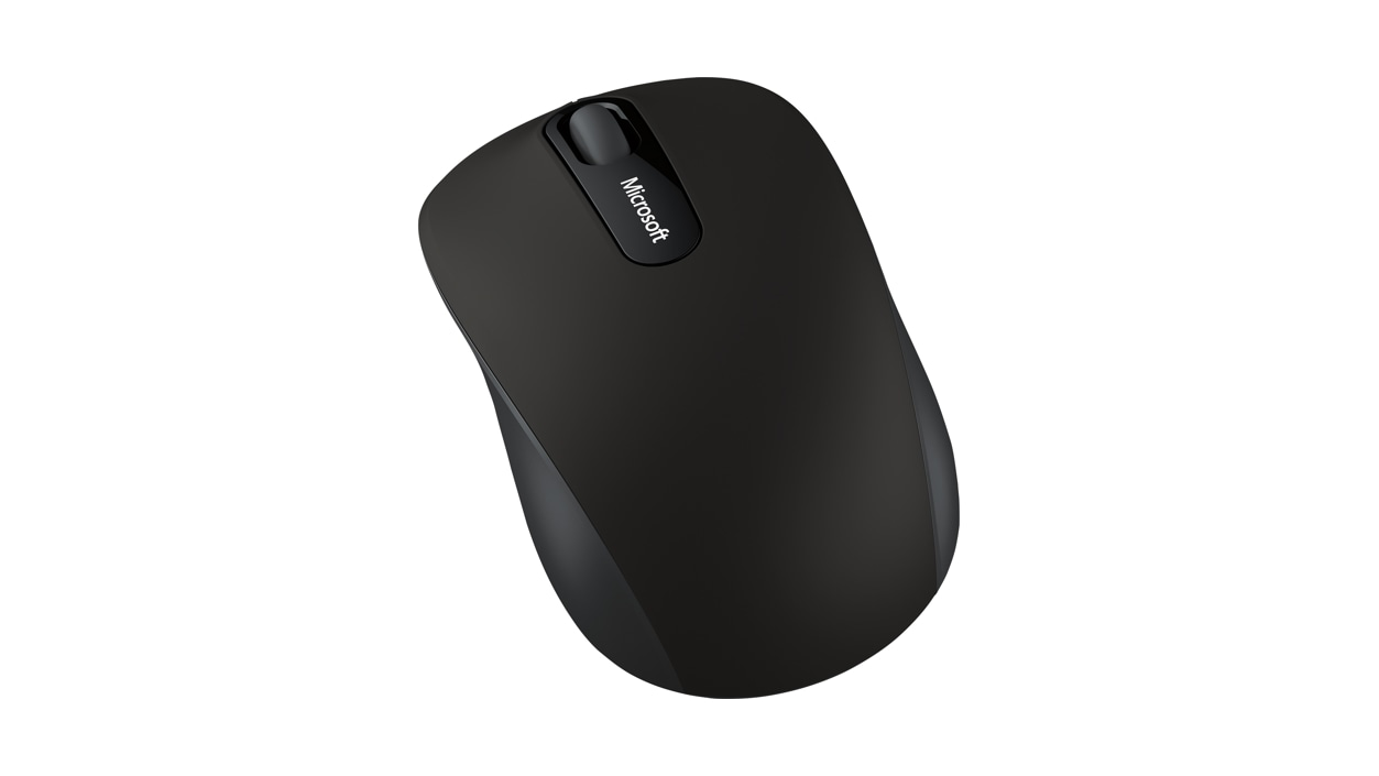 Microsoft Bluetooth Mobile Mouse 3600 (Black) side overhead view