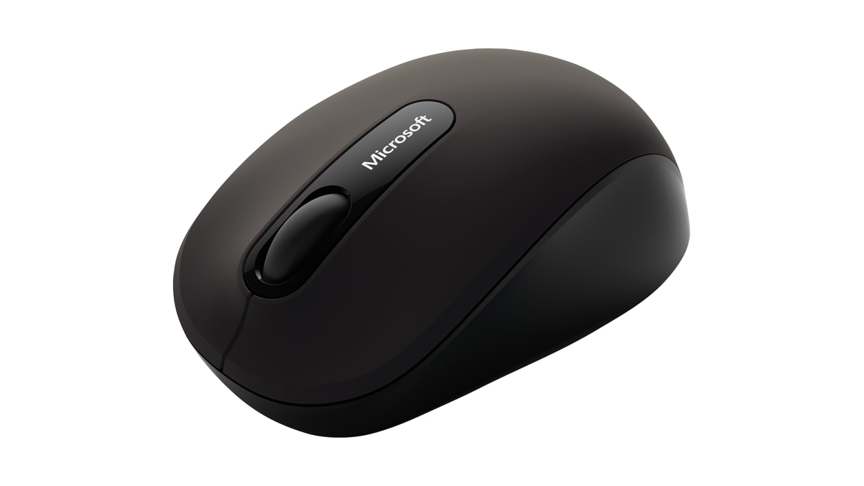 Microsoft Bluetooth Mobile Mouse 3600 (Black) front angle view
