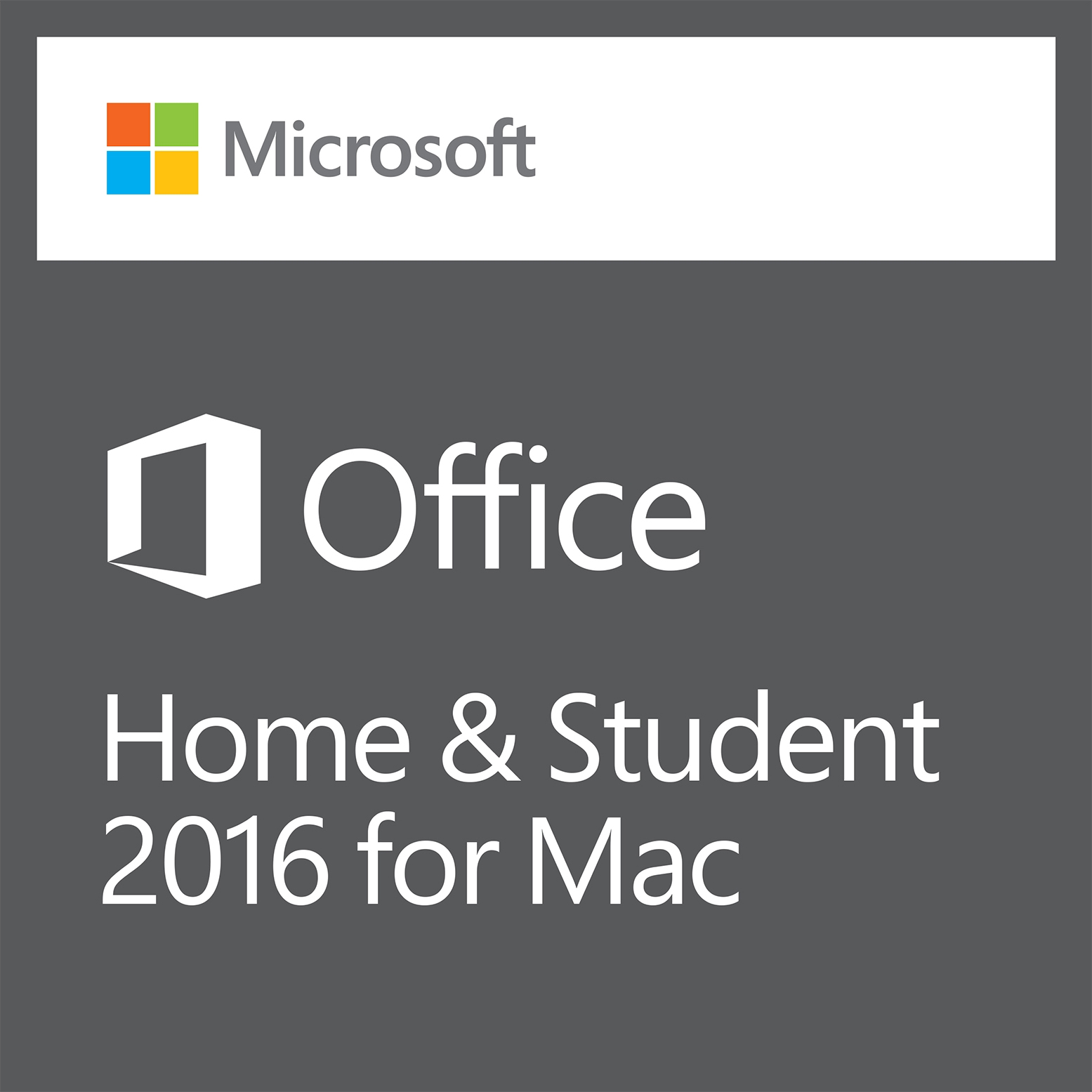 Office Home & Student 2016 for Mac - Boxshot