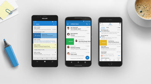 Smartphones met de Outlook-app