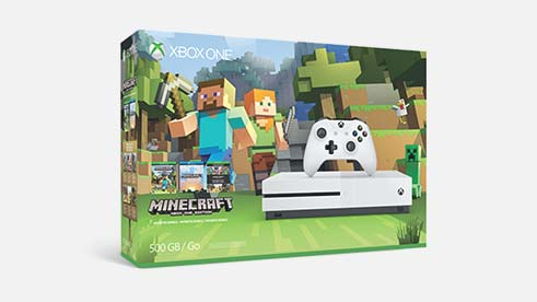 Een Xbox One S Minecraft Favorites-bundel