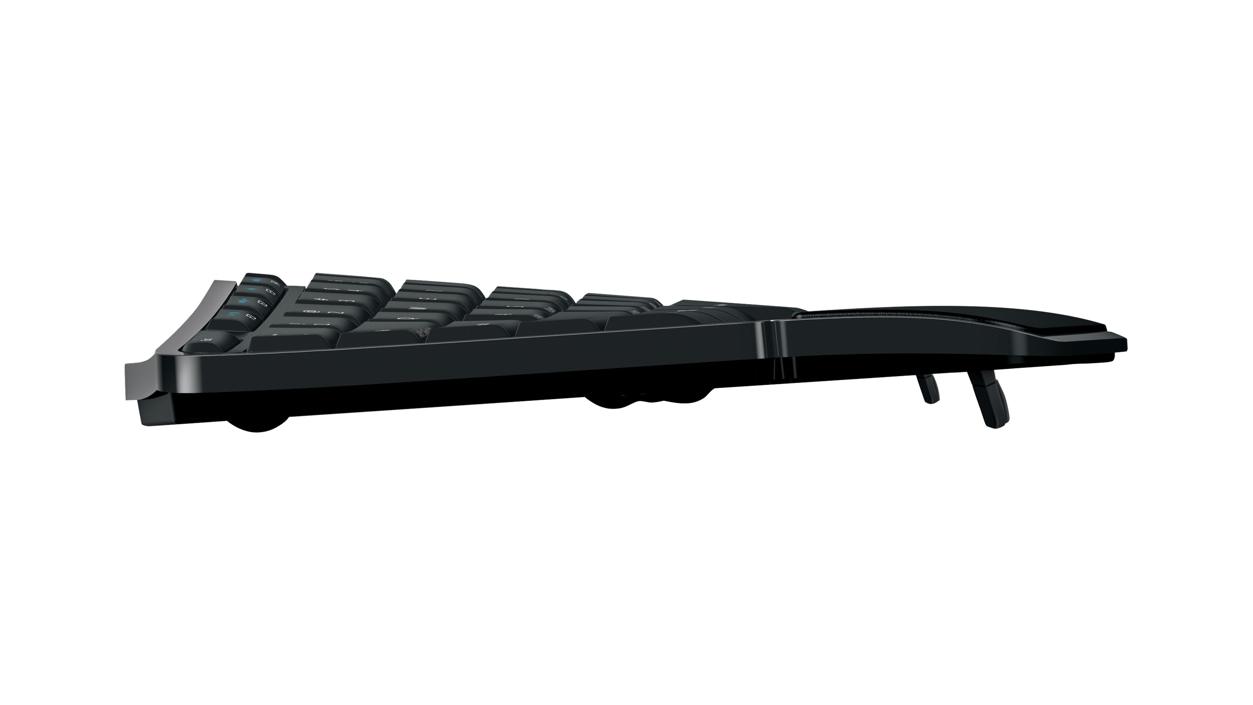 Microsoft Sculpt Comfort Desktop - Side view of Keyboard