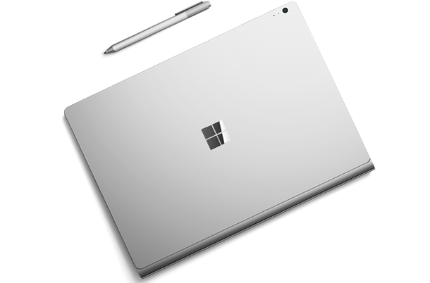 Closed Windows tablet with pen.