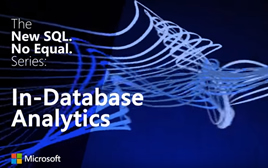 The new SQL no equal Series in-database analytics.