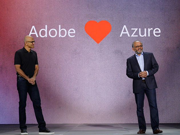 Adobe loves Azure - Microsoft CEO Satya Nadella and Adobe president and CEO Shantanu Narayen announce their partnership on the Microsoft Azure cloud platform