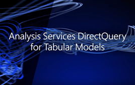 DirectQuery for Analysis Services tabular models