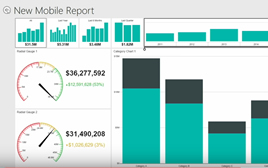 New mobile report dashboard screenshot.