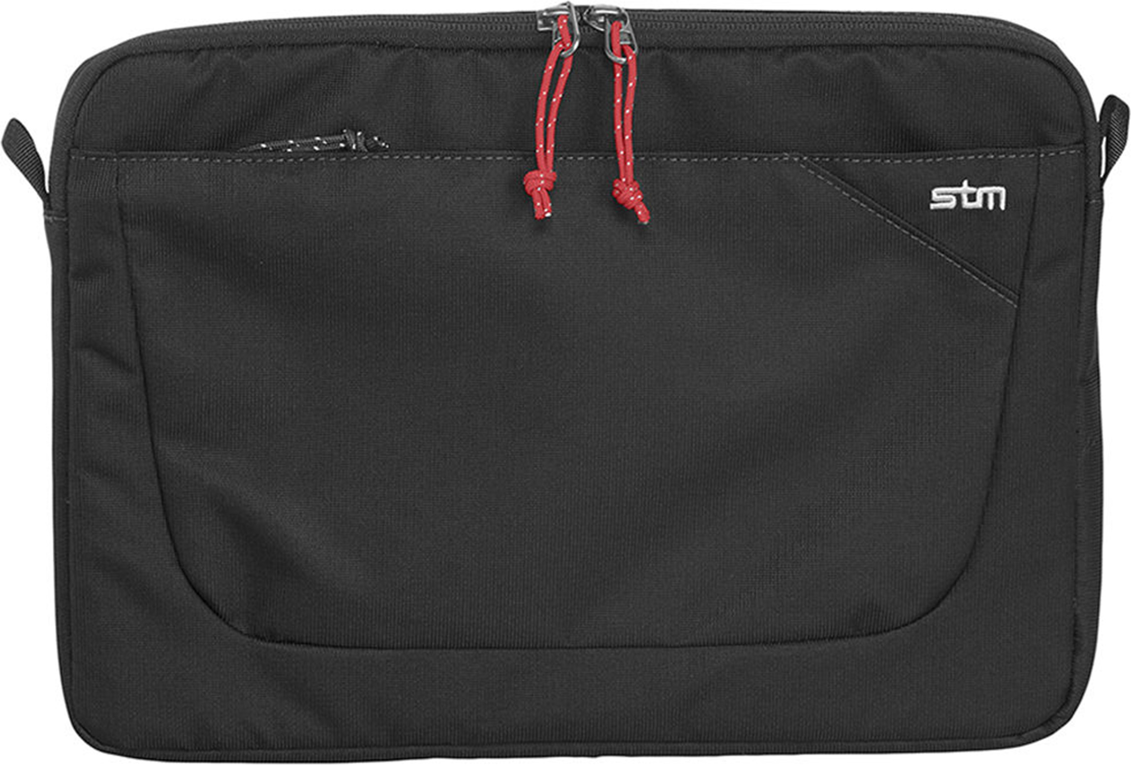 STM Blazer Laptop 3 Sleeve 15  Made with durable water-resistant fabric, this sleeve protects your laptop with 360 degrees of high-density foam. Plus, it has a slip pocket for a tablet, a place for some paperwork, and a removable shoulder strap.