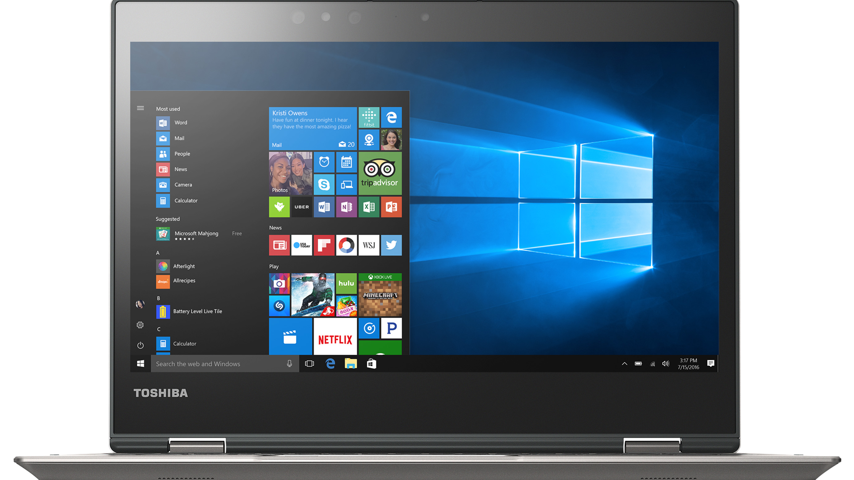 Toshiba Portege X20W Signature Edition 2 in 1 PC• 12.5-inch Full HD touchscreen • Up to Intel i7 7th Gen • Up to 16GB memory/Up to 512GB SSD • Up to 13 hours battery life