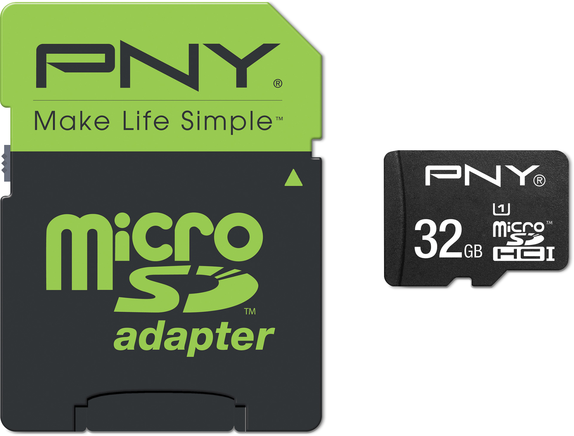 PNY 32GB microSD Flash Card with SD Adapter