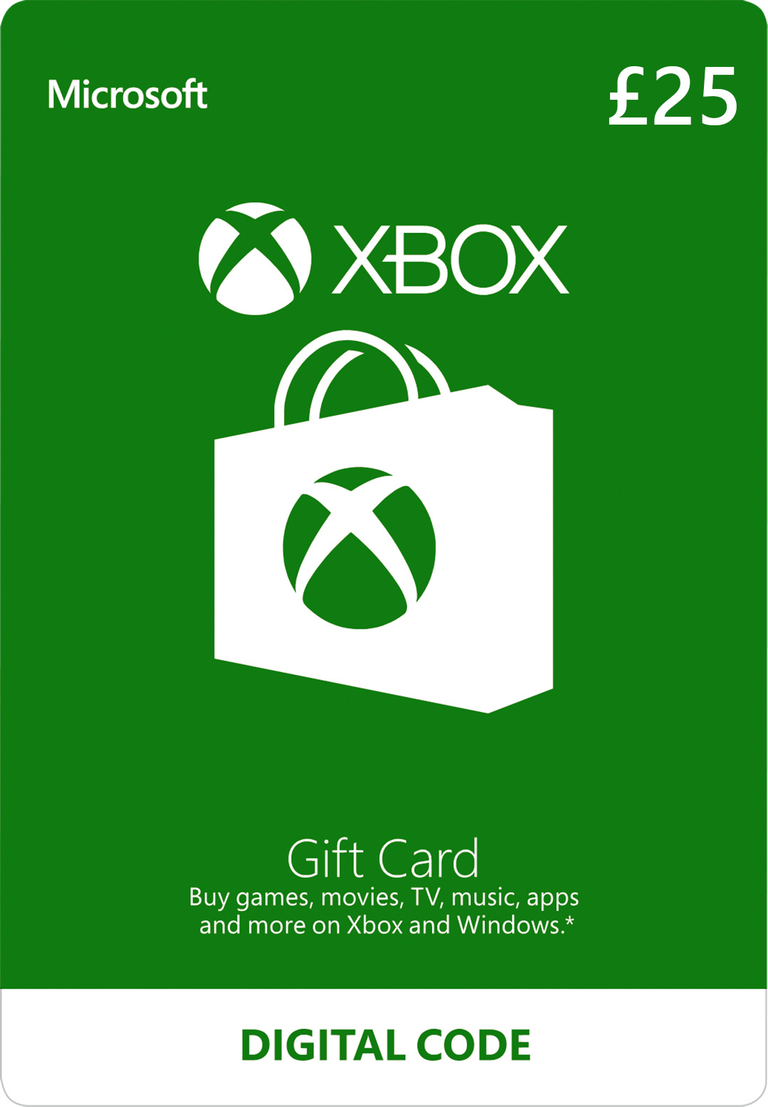 Xbox Digital Gift Card: £25.00