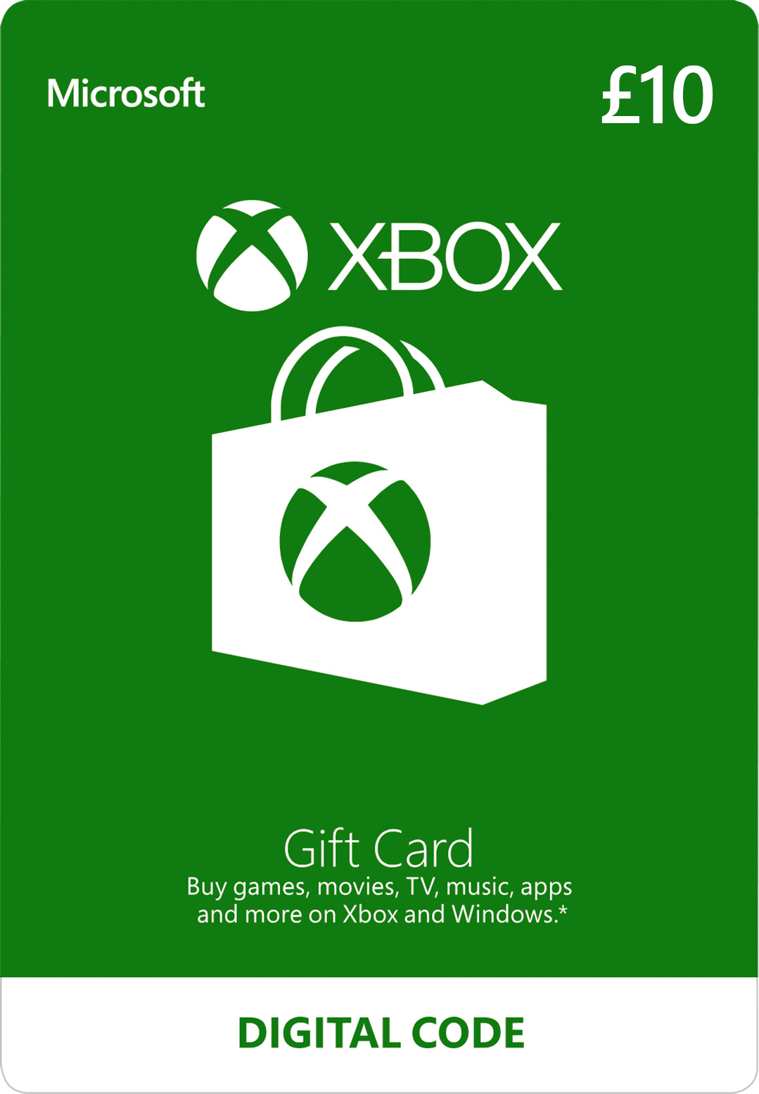 Xbox Digital Gift Card: £10.00