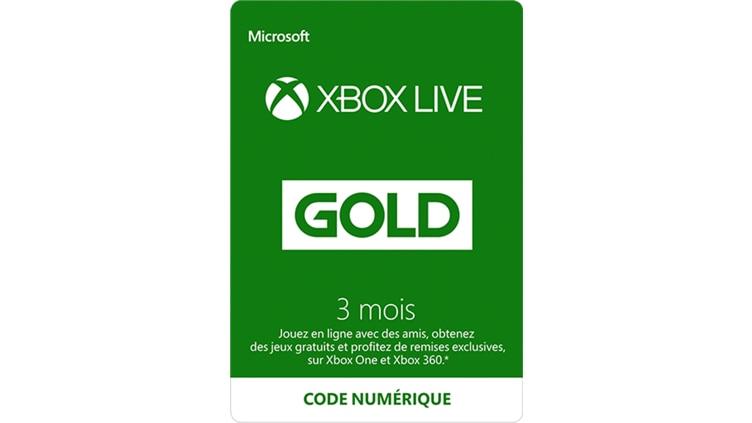 Abonnement Xbox Live Gold de 3 mois(Code numérique)