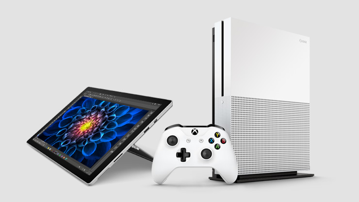 Surface and Xbox game