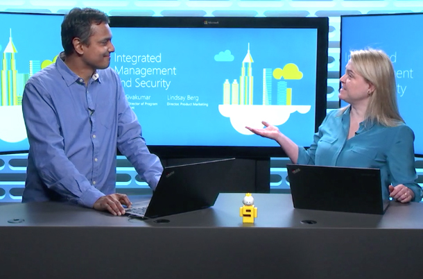 Screenshot of live video demo of how to integrate hybrid cloud management and security