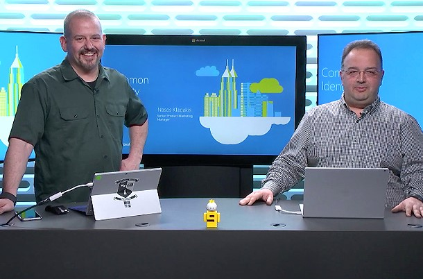 Screenshot of live video demo of how to use Azure Active Directory to create a common identity in a hybrid cloud