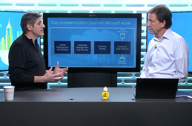 Screenshot of live video of how hybrid cloud provides consistent data access