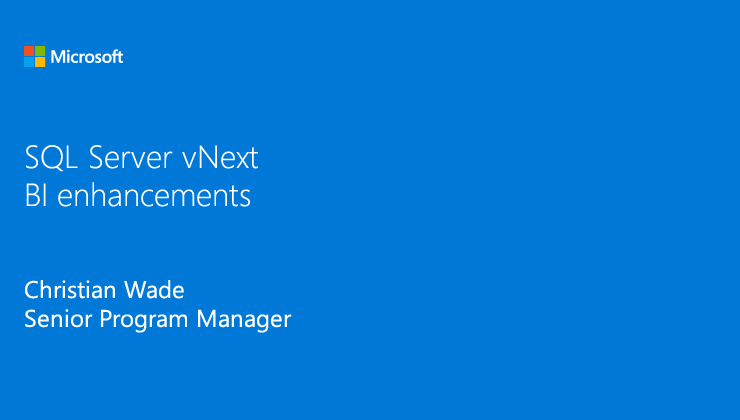 SQL Server 2017: BI enhancements video thumbnail