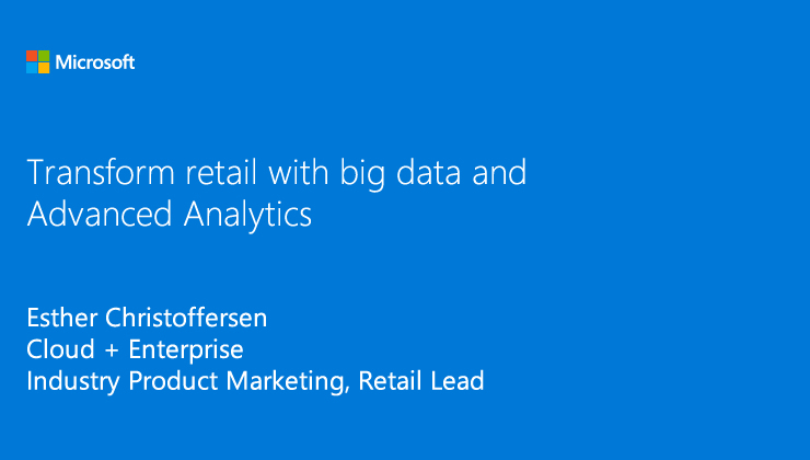 Transform retail with Advanced Analytics solutions video thumbnail