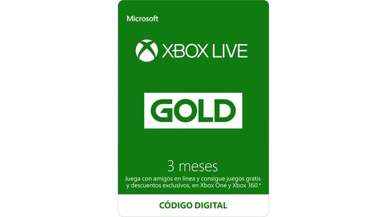 Membresía Xbox Live Gold por 3 meses (Código Digital)