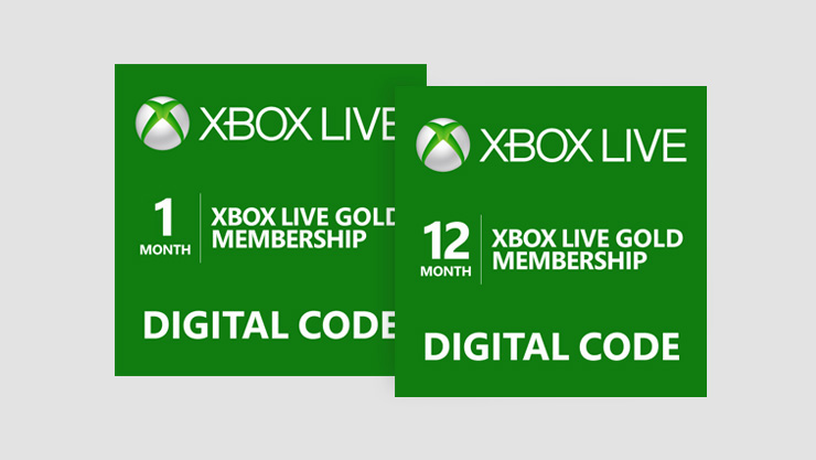 Xbox live gold membership card