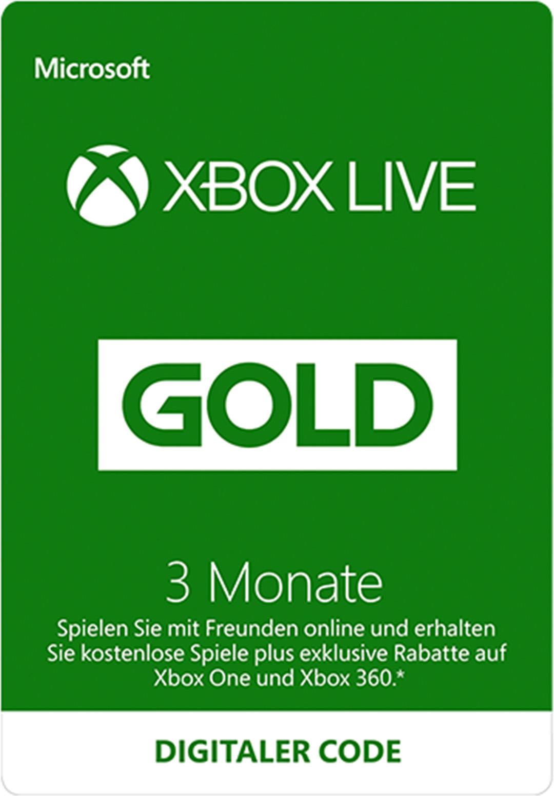 xbox live karte Xbox Live Gold Mitgliedschaft (Digital Code) kaufen – Microsoft