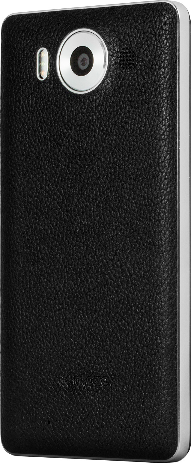 Mozo Back Cover for Lumia 950 (Black) left facing angle