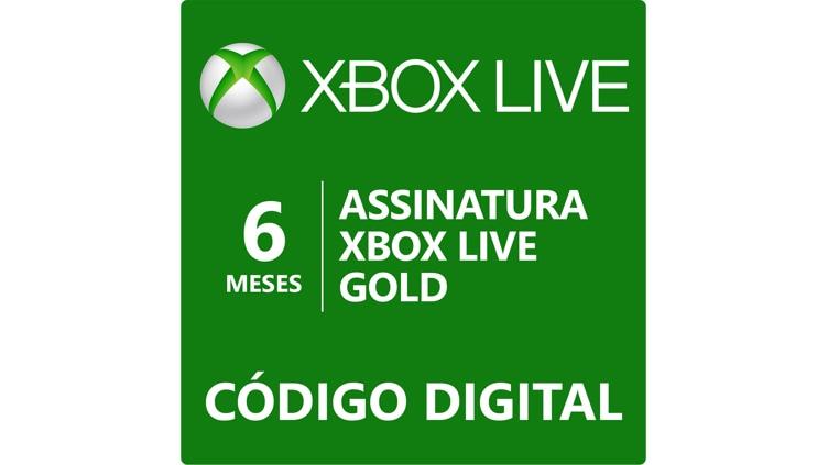 Assinatura Xbox Live Gold de 6 meses (Código Digital)