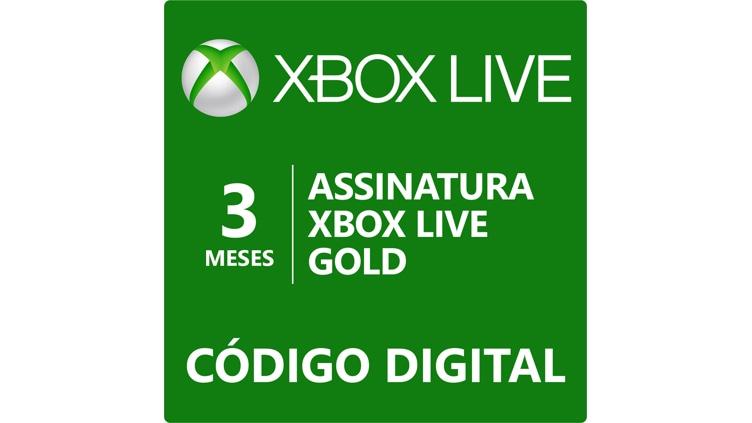 Assinatura Xbox Live Gold de 3 meses (Código Digital)