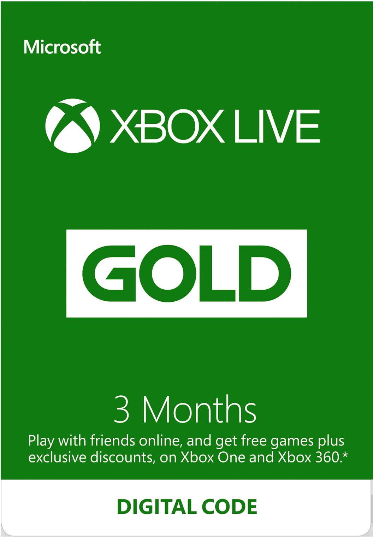 Xbox live 1 month code uk