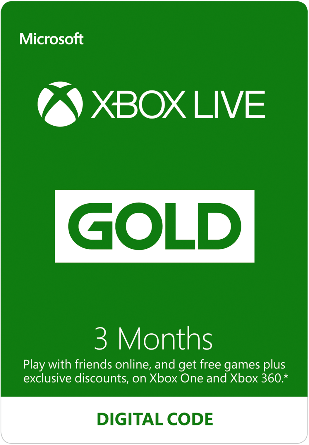 Image of 3-Month Xbox Live Gold Membership (Digital Code) S2T-00006