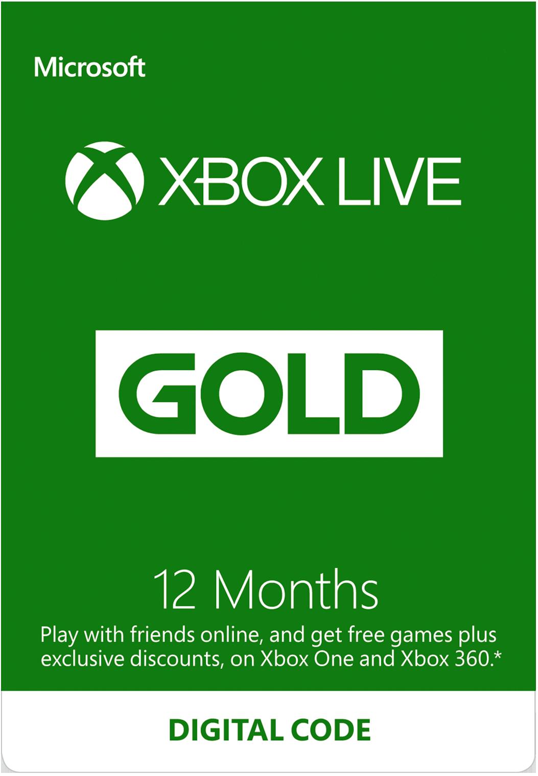 Xbox Live 12-Months Gold Membership (Digital Code)