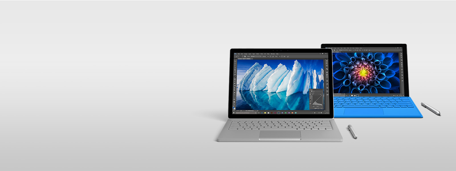 Surface Book with performance base and a Surface Pro 4