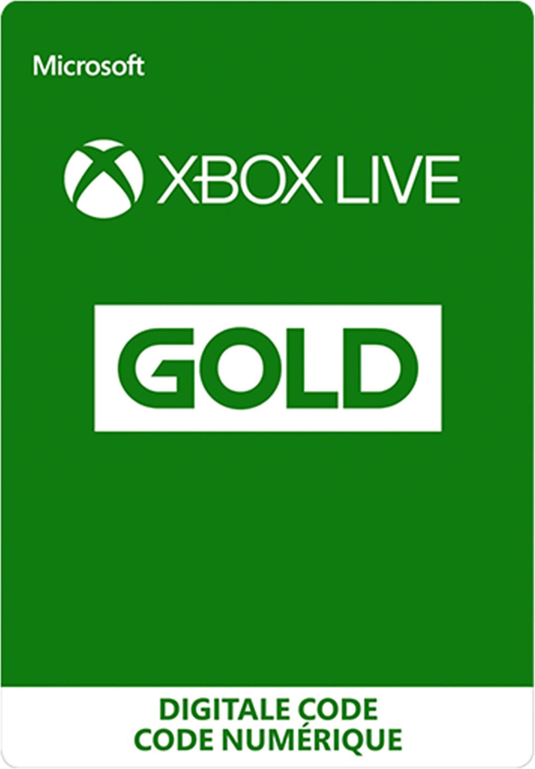 Xbox Live Gold-lidmaatschap (digitale code)