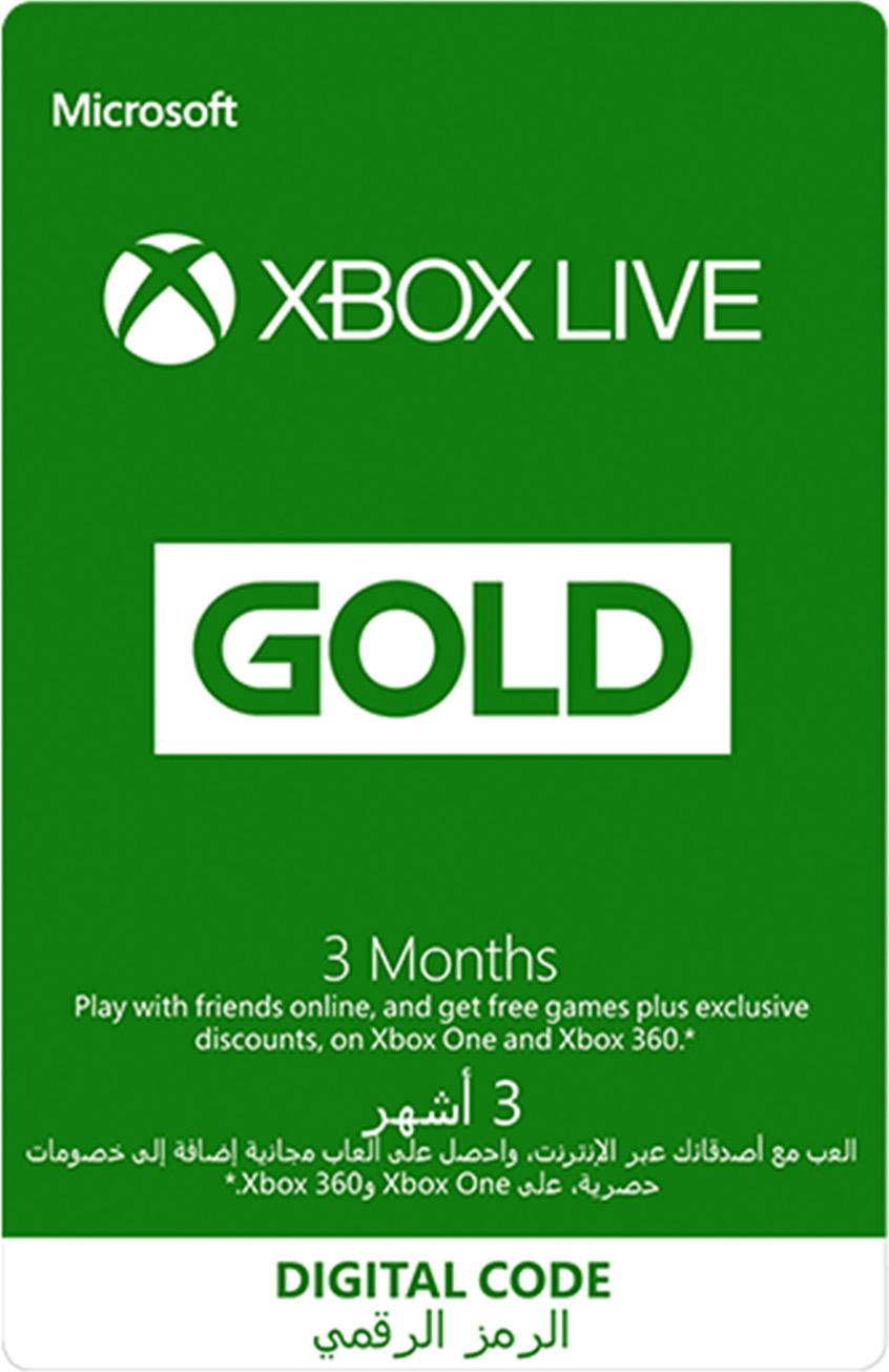 عضوية Xbox Live Gold لمدة 3 أشهر