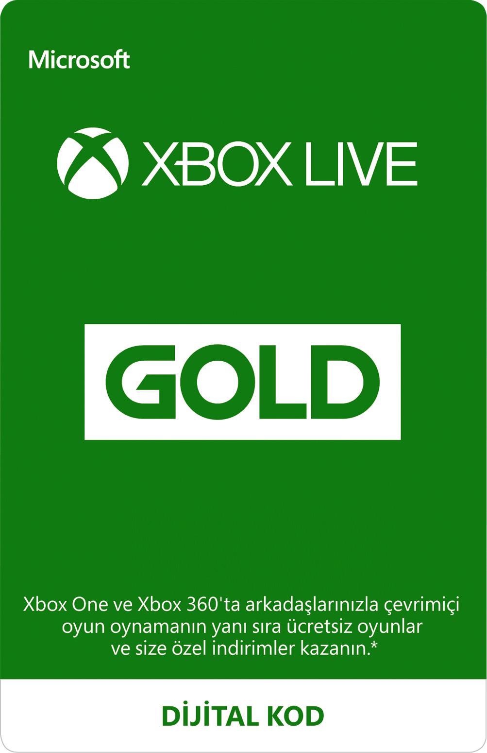 Xbox Live Gold Üyeliği (Dijital Kod)