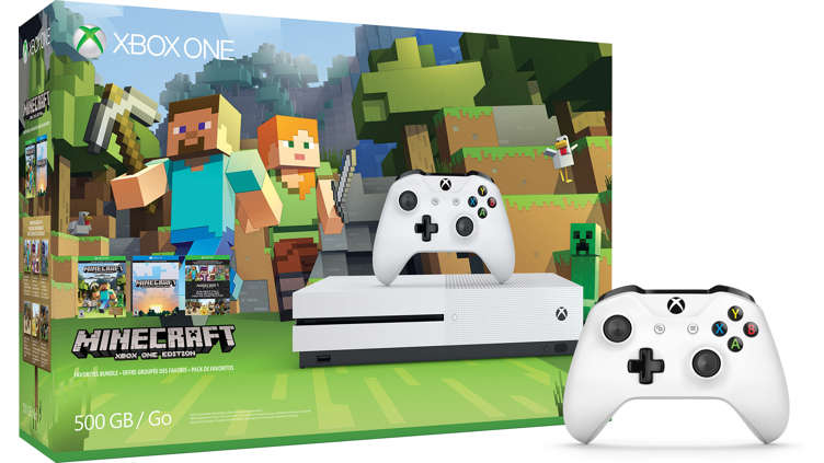 xbox one s minecraft favorites bundle 500 gb kaufen. Black Bedroom Furniture Sets. Home Design Ideas