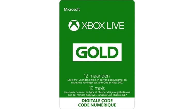 Xbox Live Gold 12mois (Code numérique)