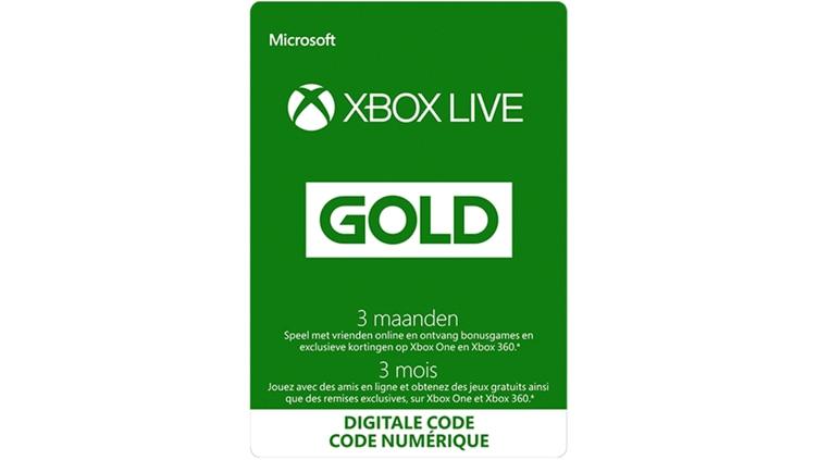 Xbox Live Gold 3mois (Code numérique)