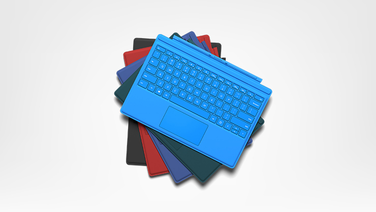 Surface Pro 4 type covers in all colors
