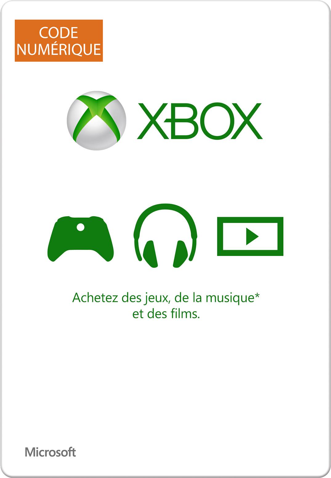 Carte cadeau numérique Xbox