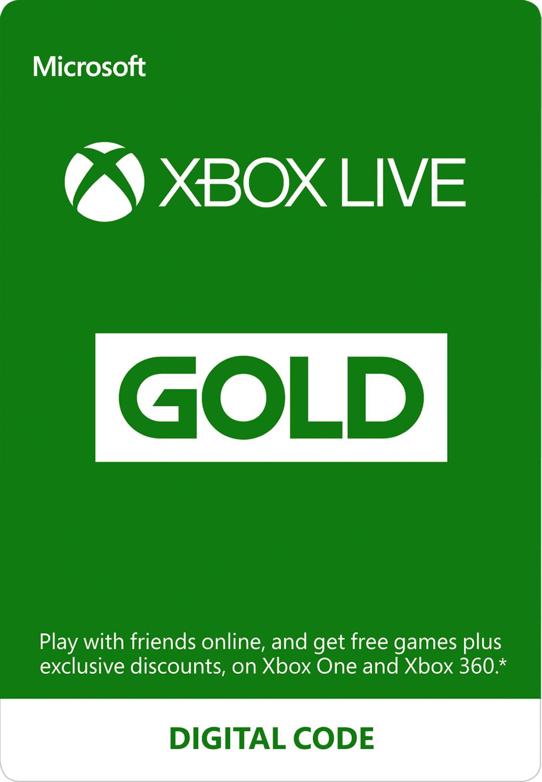 عضوية Xbox Live Gold (الرمز الرقمي)