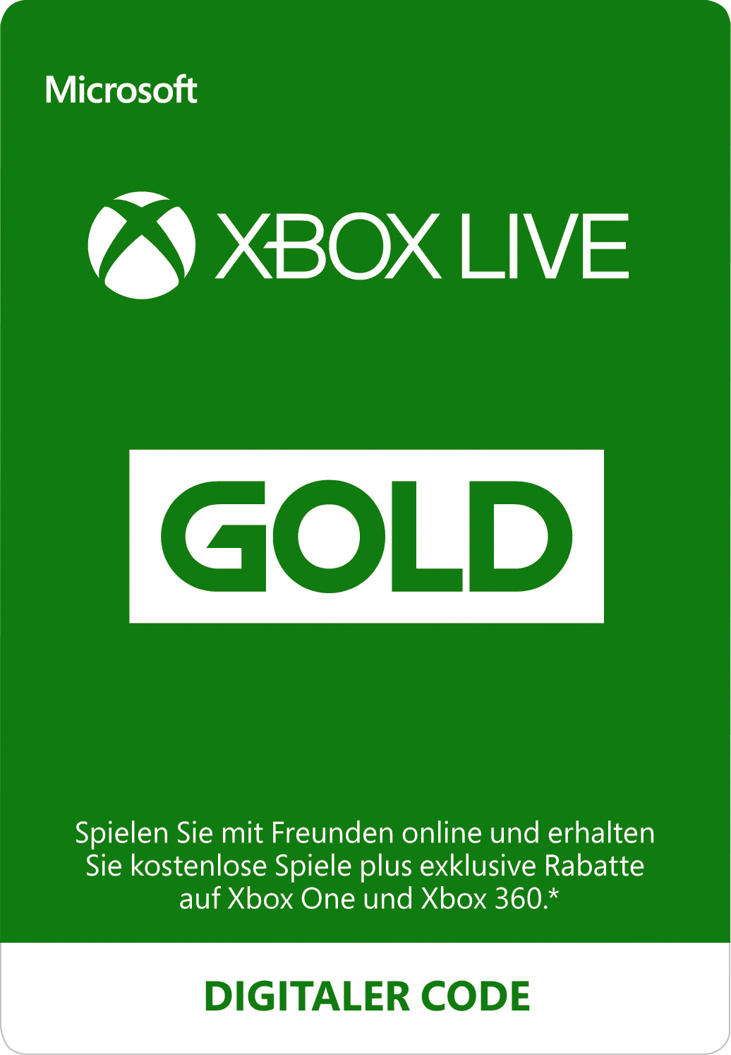 Xbox Live Gold-Mitgliedschaft (Digital-Code)