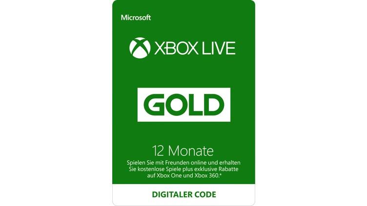 Xbox Live Gold-Mitgliedschaft für 12 Monate (Digitaler Code)