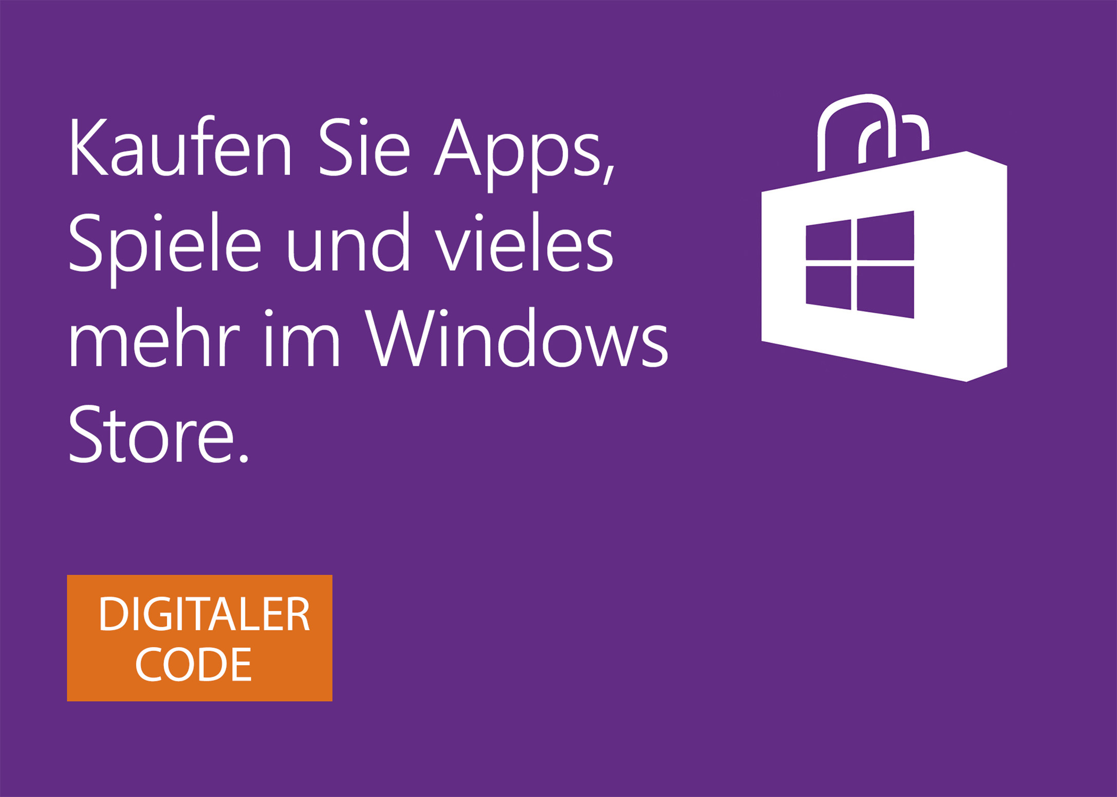 Windows Store digitale Geschenkkarte