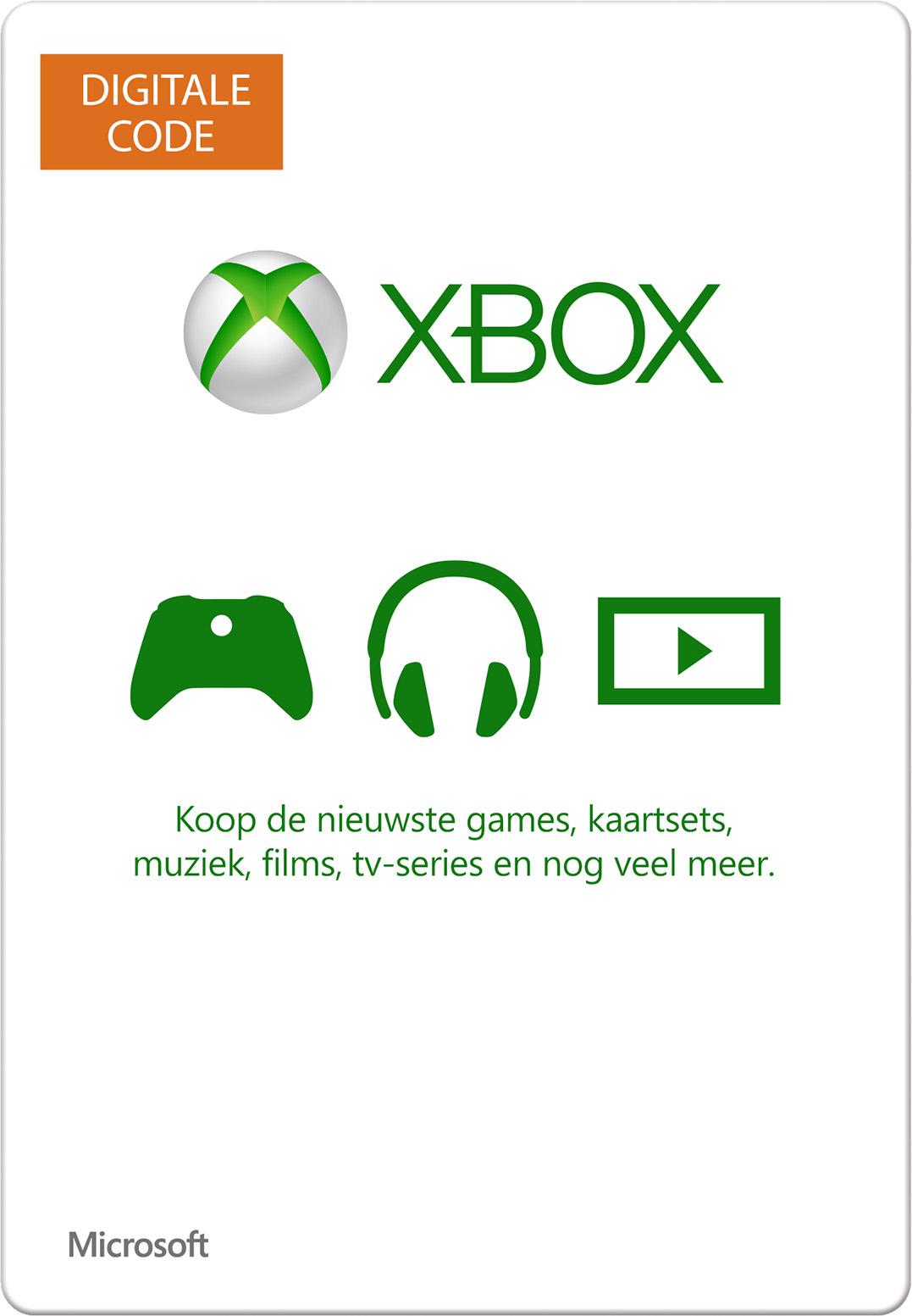 Digitale Xbox-cadeaubon