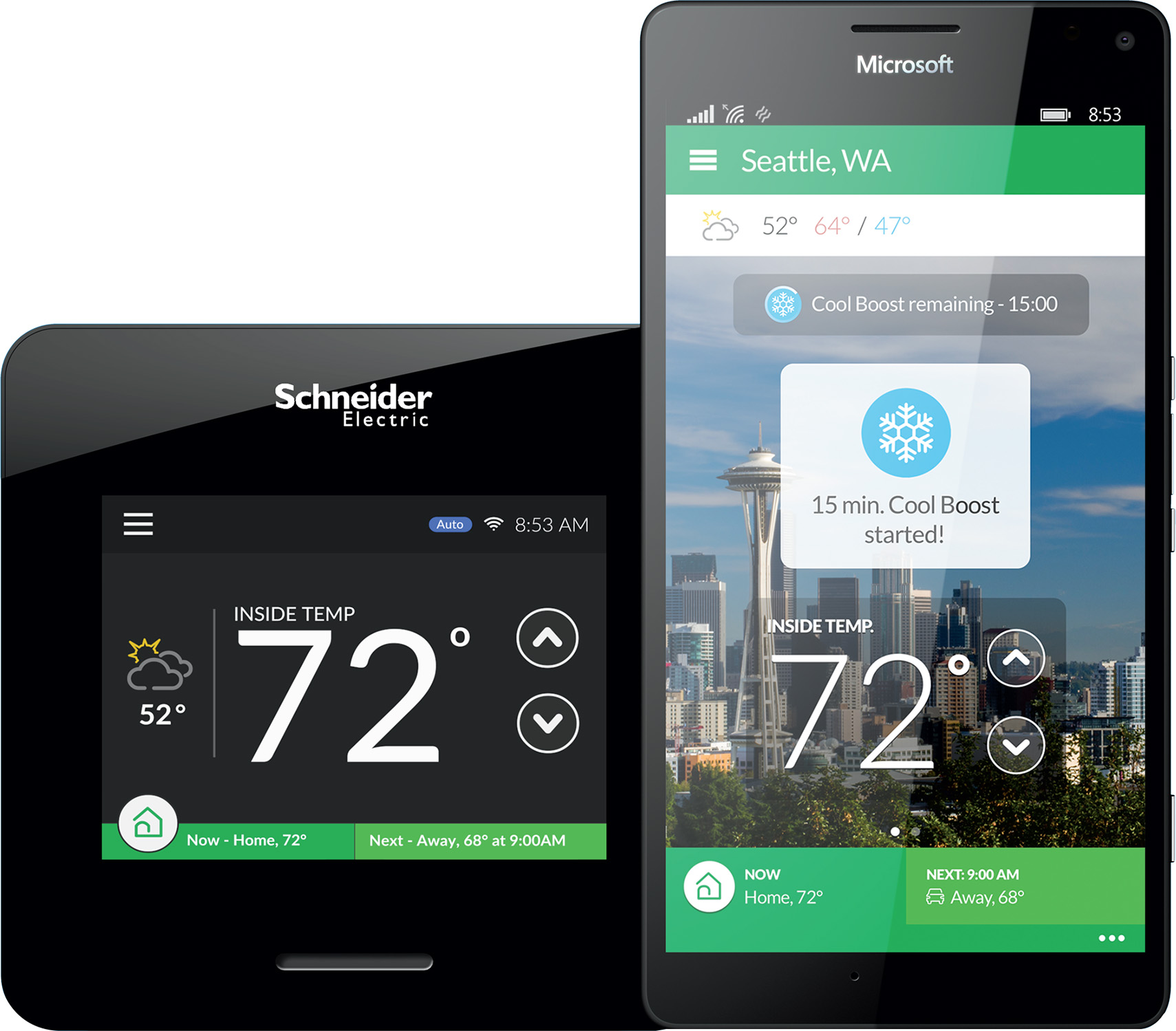 Schneider Electric Wiser Air Wi-Fi Smart Thermostat